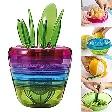 dijun Fruits Cutter Multi Tool Küche Set Grinder Salat Cutter