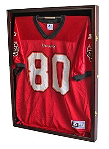 Ultra Clear PRO UV Basketball, Football, Hockey Jersey Frame Display Case, LOCKABLE, (JC01-MA) by DisplayGifts
