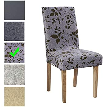 Blesiya 4Pcs Grey Stretch Chair Cover Low Short Back Chairs Slipcovers
