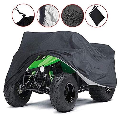 Byrhgood All-Terrain-Vehicle, ATV ATV Tasche - Schwarz, wasserdicht Heavy-Duty, Allwetterschutz, Universal Radantrieb Quad-Schutz (Color : Black, Size : S)