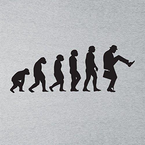 Walking Evolution The Ministry of Silly Walks Monty Python Women's Hooded Sweatshirt Heather Grey