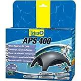 Tetra APS 400 Aquarienluftpumpe (leise laufruhig leistungsstark, mit Lufthahn zur Kontrolle des Luftstroms, ohne Luftpumpenschlauch Ausströmer Rückschlagventil), anthrazit