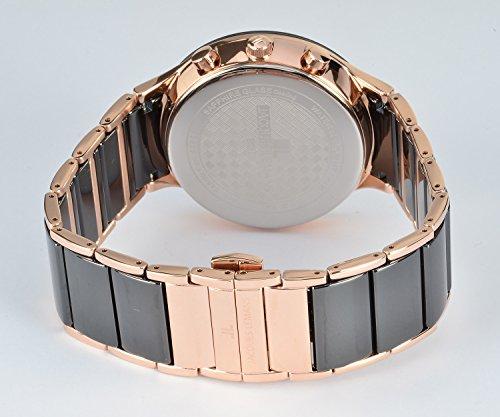 Jacques Lemans Herren Analog Quarz Uhr mit Edelstahl Armband 1-1854C