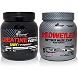 OLIMP BUNDLE Creatine Monohydrat Creapure Kreatin 500g & Redweiler Red Punch Pre-Workout/Booster 480g