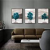 ZSHSCL Leinwanddruck Malerei 3 Stück Moderne Nordic Minimalistischen Großen Baum Leinwand Malerei Wandkunst Poster Drucke Bilder Für Wohnzimmer Büro Heimtextilien, 60X80 cm