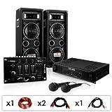 DJ-24M Karaoke-Komplett-Set tolle Party-Musikanlage mit DJ-Mixer