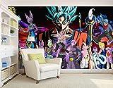 MGQSS 3D Papier peint auto-adhésifs Murale Anime Affiche Le fond Photo Papier peint Art Accueil Décoration Enfant Dessin animé Chambre Garçon Fille Chambre à coucher Le film (L) 200x (H) 150cm