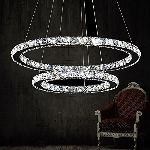 Mio-ring (MIA Light Kristall Hängeleuchte Ø400mm| Design | Ring | Chrom | Kristallleuchte Kristalllampe Hängelampe Pendelleuchte Pendellampe)