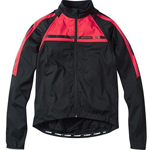 Mens Convertible Jacket (2016 Madison Mens Sportive Convertible Softshell Jacket Black Flame Red XX-Large)