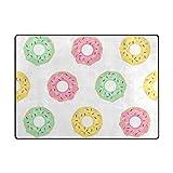 My Daily Cute Donuts Bereich Teppich 4'x 5' 7,6cm Wohnzimmer Schlafzimmer Küche Dekorativ Leichtem Schaumstoff Teppich, Bedruckt 4'10