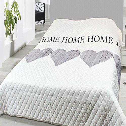 Steppdecke Tagesdecke Home Bettüberwurf wattiert und gesteppt Maße 240x220cm Sofaüberwurf