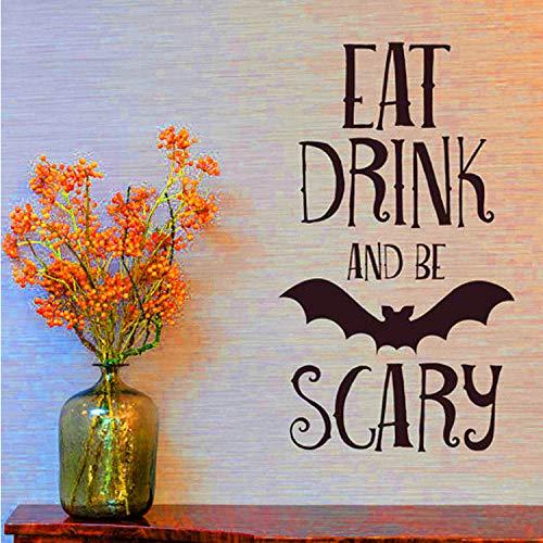ry Wandaufkleber Halloween Party Decals Home Raumdekoration Diy Wandaufkleber ()