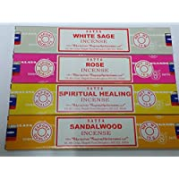 Satya Räucherstäbchen Set von 4-Weißer Salbei, Rose, spirituelle Heilung, Sandelholz von Sterling effectz preisvergleich bei billige-tabletten.eu
