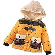 Bebé abrigo con capucha , Yannerr niños niñas Dibujos animados encapuchados chaqueta capa ropa outwear gruesa caliente