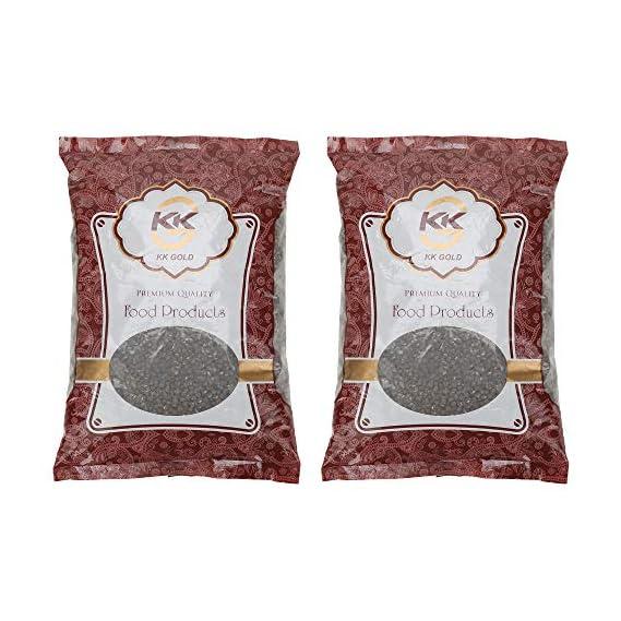 K K GOLD Premium Quality Black Urad Whole, 500 Gram, Pack of 2