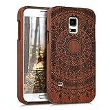 kwmobile Samsung Galaxy S5 Mini G800 Hülle - Handy Schutzhülle aus Holz - Cover Case Handyhülle für Samsung Galaxy S5 Mini G800