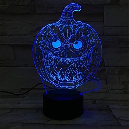 t, 3 Muster 7 Farben ferngesteuertes dimensionale Basketball Licht, optische Nachtlichter, Tischlampe Atmosphäre Dekoration, Kinder Geburtstagsgeschenke, Halloween Kürbis Kopf ()
