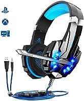 Auriculares Gaming PS4,Cascos Gaming, Auriculares Cascos Gaming de Mac Estéreo con Micrófono Juego Gaming Headset con...