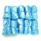 Couvre-chaussures jetables plastique-Nettoyant moquette-sur-chaussures anti-poussière Bleu Lot de 50