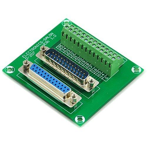 Electronics-Salon D-Sub DB25 männlich/weiblich Header Breakout Board, TERMINAL BLOCK, Stecker. - Db25-stecker