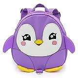 Jian Ya Na Baby-Sicherheits-Anti-verlorene Rucksack Kleinkind-nette Karikatur-Pinguin Gehen Sicherheits Rucksack mit Safetyleash Große Geburtstagsgeschenke Lila