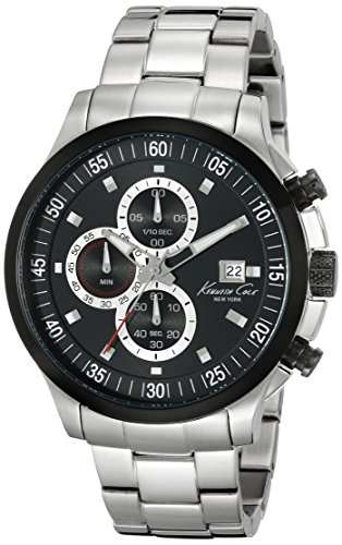 Kenneth Cole KC9384 Stainless Steel Watch for Men, Strap – Silver