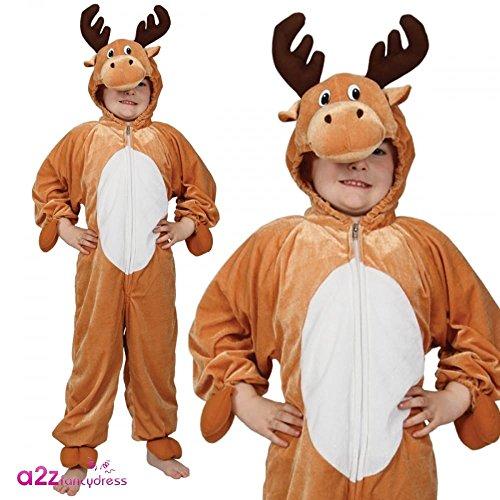 Bambini Costume Up Christmas Renna - XL - 9/10 anni