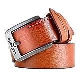 Leathario cinturón de piel para hombre...