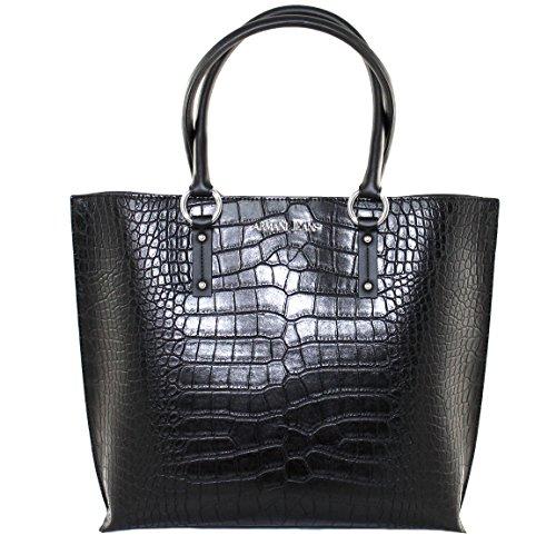 Armani Jeans Tasche Henkeltasche Shopper Bag 922145 schwarz