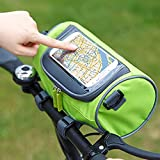 Cloudmart Waterproof Bicycle Bike Front Storage Bag with Touchscreen Transparent PVC Pouch Smartphone