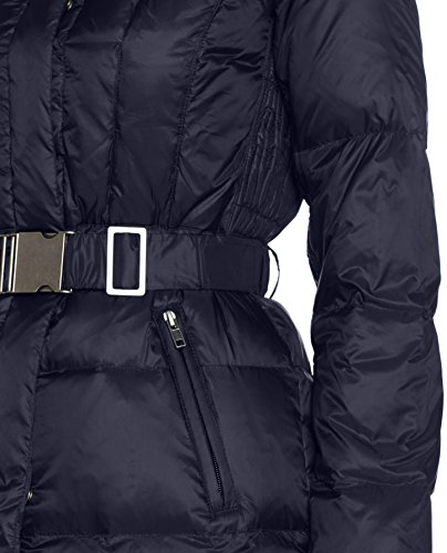 United Colors of Benetton Damen Mantel Jacket with Down Inserts Blau (Dark Blue 06U)