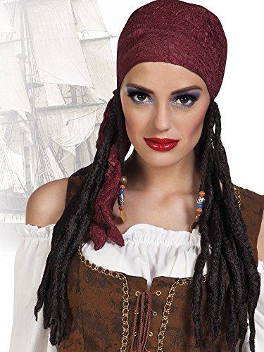 Dreadlocks und Bandana (Pirate Sexy Perücke)