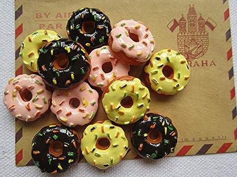 Donuts pour Bow Center cheveux Scrapbooking Téléphone déco, bricolage (20 mm)