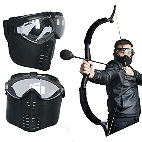 toparchery Archery CS Games Tactical Airsoft Full Face Mask Safety Protect Guard Hunting