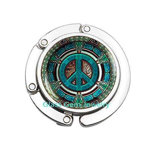 Hippie Geldbörse Haken, Hippie Taschenhaken, Hippie Schmuck, Peace-Zeichen, Geldbeutelhaken, Peace-Schmuck, Peace-Taschen-Haken, Herren Geldbeutelhaken, Hippie Herren-Schmuck, Q0066 - Peace-zeichen-geldbörse