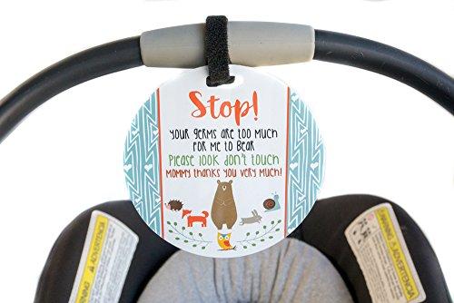 Forêt de sécurité pour bébé, nouveau-né, bébé de siège de voiture Tag, cadeau de Baby Shower, poussette Tag, bébé Preemie sans toucher de siège de voiture Sign