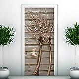 3D Tür Aufkleber Ast Poster Wandbild Tapete Stereo Home Hintergrund Schlafzimmer Tür Dekoration selbstklebend PVC selbstklebend Stereo er 77x200cm