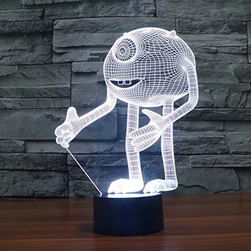 Einäugiges Monster Acryl 3D Optische Illusion Nachtlicht, 7 Farben Führte Nachtlicht, Monsters, Inc. Home Dekoration Für Kinder Geschenk