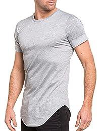 Celebry tees - Tshirt home gris uni oversize manches courtes