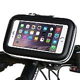 SIOTI Bike Phone Mount Halterung Universal Smartphone Fahrrad Wasserdichte Tasche Holster Case für iPhone Samsung Huawei HTC und die meisten Smartphones bis zu 5,2 Zoll Geräte