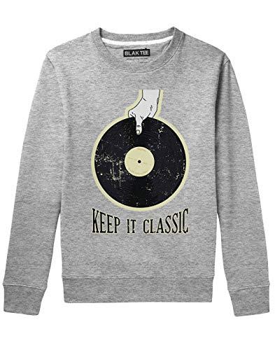 BLAK TEE Vinyl Illustration Keep It Classic Unisex Damen Herren Pullover Sweatshirt S - Ss-roll-pin