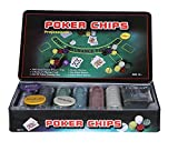 PACKNBUY Poker Set 300 Chips Gaming MAT Cards Dices Dealer