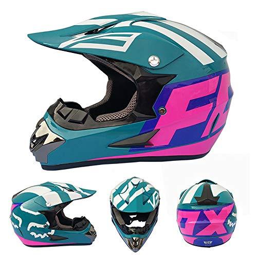 HonicasG Outdoor Erwachsenen Vollgesichts MX Helm Motocross Offroad Dirt Bike Motorrad ATV,F,S -