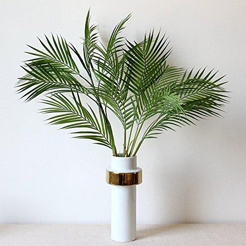 Li hua gatto foglia di palma finte foglie artificiali piante verdi per ufficio hotel, office decor wall decor room home decor e fai da te, plastica, bunch, 50-80cm