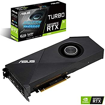 ASUS TURBO-RTX2060-6G - Tarjeta gráfica (NVIDIA GeForce RTX 2060, 6 GB, GDDR6, 192 bit, 7680 x 4320 Pixeles)