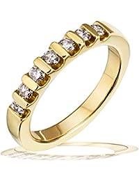 Goldmaid Damen-Ring Memoire 585 Gelbgold 7 Brillanten 0,40ct
