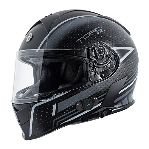 TORC T14B - Casco integral para moto con Blinc Bluetooth, gráfico, co
