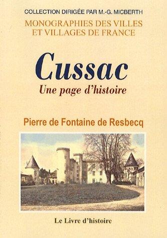 Cussac : Une page d'histoire - Familles et châteaux