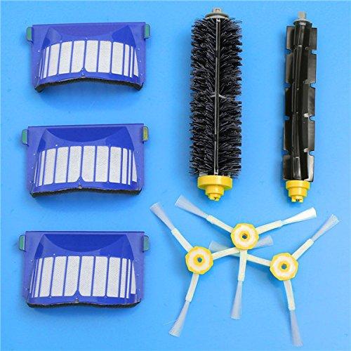 RanDal 8Pcs Replacement Brush Filter Kit Für Irobot Roomba 600 Serie Vakuum-Reinigungsmittel -