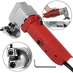 Mophorn 500W Cisaille à Tôle Electrique Professionnel Electric Sheet Metal Shear Cisaille Electrique Tôle Capacité de Coupe 2.5 mm